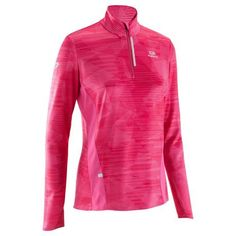 Kalenji Elio Women s Long Sleeved Running Jersey Broken - Pink Running 745a968b66b