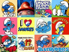 Smurfs was my favorite Saturday morning cartoon. And I would watch it eating a bowl of Smurf Berry Crunch cereal. Looney Tunes Cartoons, Cool Cartoons, Disney Viejo, Morning Cartoon, Cartoon Photo, Smurfette, 80s Kids, Classic Cartoons, Ol Days