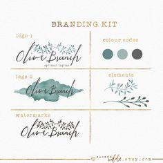 Olive Branch Branding Package  Branding Kit  Olive by SacredWilde