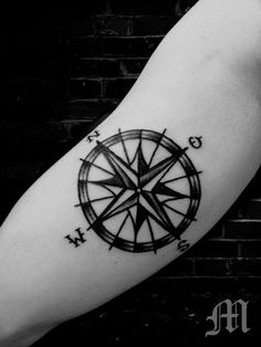 I'm a sucker for a good compass tattoo.