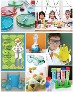 scientist party inspiration--hmmm... change it a bit and make it a Dr. Horrible themed party? YES!