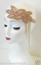 Shop for on Etsy, the place to express your creativity through the buying and selling of handmade and vintage goods. 1920s Headband, Vintage Headbands, Headbands For Women, Style Vintage, Vintage Ladies, Pink Und Gold, Gold Beads, Headdress, Women's Accessories
