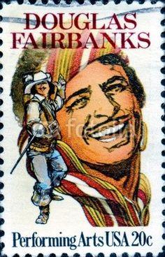 Douglas Fairbanks.1883-1939. Performing Arts. US Postage.