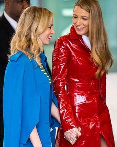 Galentines Day BFFs  #BlakeLively and #EmilyBlunt holding hands outside @michaelkors #NYFW show  via MARIE CLAIRE AUSTRALIA MAGAZINE official Instagram - #Beauty and #Fashion Inspiration - Beautiful #Dresses and #Shoes - Celebrities and Pop Culture - Latest Sales and Style News - Designer Handbags and Accessories - International Advertising Campaigns - Gifts and Bargain #Shopping Guide - Famous Luxury Brands on Instagram - Trendsetters Fashionistas and Shopaholics - Editorial Magazine Covers…