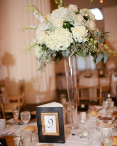 Wedding reception table idea