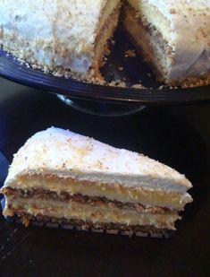 Jastuk torta by Snježa Dobos Torte Recipe, Cake Recipes, Dessert Recipes, Bread Dough Recipe, Chocolate Bowls, Croatian Recipes, Traditional Cakes, Homemade Cakes, Vanilla Cake