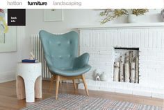 Walker Home Design: Breckenridge Plan love this chair and more painted white brick Scandinavian interiors Black Interior Design Ideas . Unused Fireplace, Fireplace Ideas, White Fireplace, Brick Fireplace, Fireplace Grate, Decorative Fireplace, Artificial Fireplace, Pretty Things, Deco Pastel