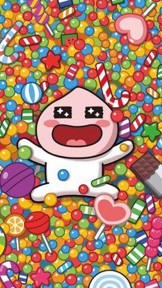 Peach Wallpaper, K Wallpaper, Wallpaper Backgrounds, Apeach Kakao, Kakao Friends, Cartoon Painting, Line Friends, Cartoon Shows, Kawaii Drawings