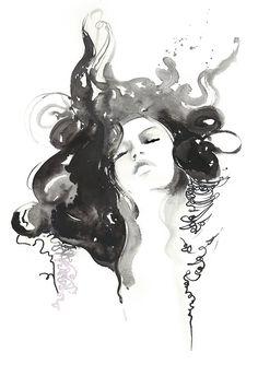 Impressions d'archivage d'encre & Sketch par silverridgestudio
