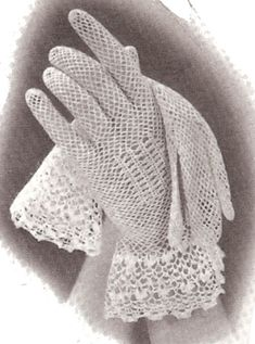 Vintage Irish Fishnet Gloves Crochet Pattern