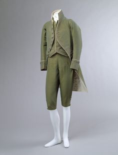 Another image of the three piece suit. During the french revolution pieces became much simpler.