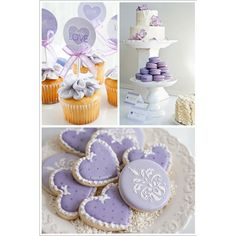 Lavender Dessert Table - Half Baked – The Cake Blog ❤ liked on Polyvore