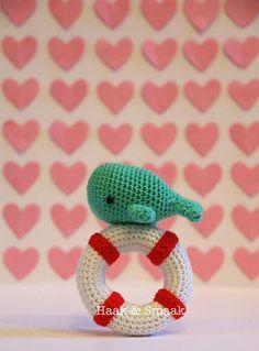 Whale Lifebuoy Rattle Crochet Pattern (FREE) - http://pinterest.com/Allcrochet