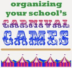 Running your school carnival can be overwhelming.  Here's how we do games {with links to how we do other stuff}
