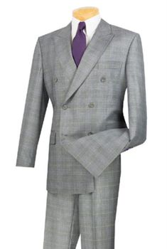 Blazer+Pants Fitty Lell Mens Double Breasted Pinstripe 2 Piece Suit Jacket /& Trousers /& Waistcoat