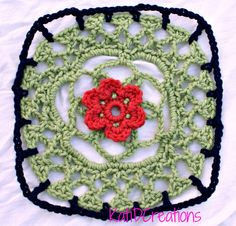 Lacy Flower Granny Square – FREE Pattern #crochet