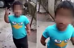 Toddler Seen Waving Gun Around During Training To Become An Armed Robber (Shocking)
