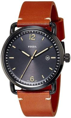 Fossil The Commuter Quartz Men's Watch - CityWatches. Fossil Watches, Black Stainless Steel, Watches Online, Mineral, Markers, Watches For Men, Quartz, Crown, Hands