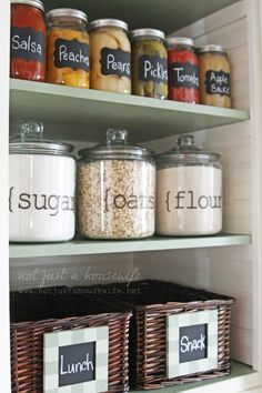 IMG_31491-682x1024    Kitchen pantry  Love the clear jars for staples.