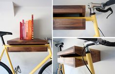 A great solution for bike storage in a small apartment