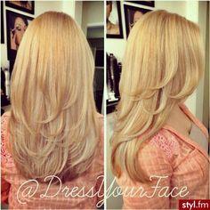 Long hair cut. Not blonde.