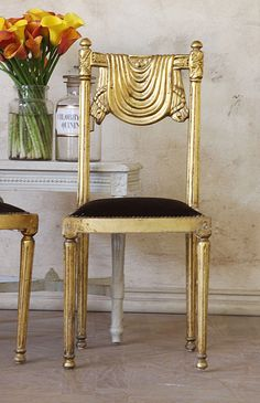 Vintage Gilt Side Chairs