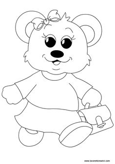 orsetta-accoglienza-scuola-infanzia Coloring For Kids, Adult Coloring Pages, Coloring Books, Crafts For Kids, Arts And Crafts, Bear Theme, Mehndi Designs, Drawing Reference, Embroidery Patterns