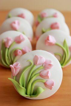 Cupcakes con flores para el Día de la Madre