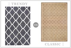 TRENDY VS CLASSIC: Area Rugs — Opal Design Group