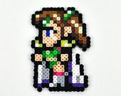 Final Fantasy IV Rosa Perler Bead Magnet