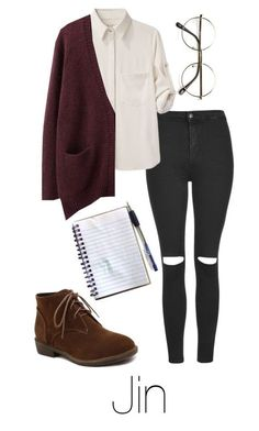 """""""Writing Music with Jin"""" by btsoutfits ❤ liked on Polyvore featuring Topshop, rag & bone and Acne Studios"""