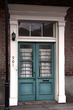 NOLA Turquoise Doors  New Orleans Travel by FeatheredDragonfly, $30.00