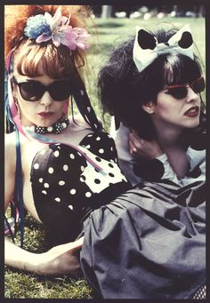 strawberry switchblade. OMG I loved these girls back in the 80s! I even wandered around with tons of ribbons in my hair for a time!