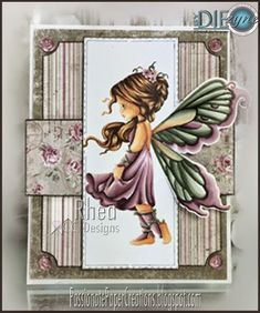 By DIEzyne Dies, C.C. Designs, Whimsey Stamps, A Random Fan Copic Markers.  Rhea Weigand, Passionate Paper Creations.