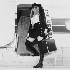 missbrigittebardot: Brigitte Bardot boarding an Air France flight, Brigitte Bardot, Bridget Bardot, Catherine Deneuve, Jacques Charrier, Romain Gary, Britt Ekland, Marianne Faithfull, Raquel Welch, French Actress