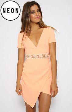 Swirl Dress - Peach