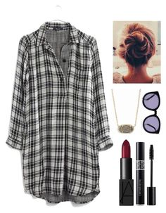 """""""comfy/hipster"""" by brochujuliafaith ❤ liked on Polyvore featuring Karen Walker, Kendra Scott, Madewell, Christian Dior and NARS Cosmetics"""