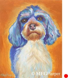 Chloe Pet Dog Portrait ~ Meg Harper ~ Meg Harper Art   Are you looking for a painting of your magnificent pet? Have Meg create a pet portrait just for you, today.    #dog #puppy #best friend #inspirational #kindness #animalpainting #art #painting #pets #petportrait #animal #love #megharper #megharperart