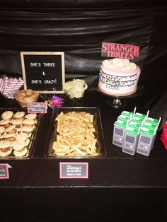 The Stranger Things obsession is REAL in my household. So, when my toddler asked for a Stranger Things themed birthday party, I ran with it! Stranger Things Theme, Stranger Things Funny, Eleven Stranger Things, Stranger Things Season, 13th Birthday Parties, 3rd Birthday, Birthday Party Themes, Birthday Ideas, Snacks Saludables