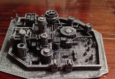 3D+Miniature+Model+of+Winterfell++by+CaseyArvin+on+Etsy,+$20.00
