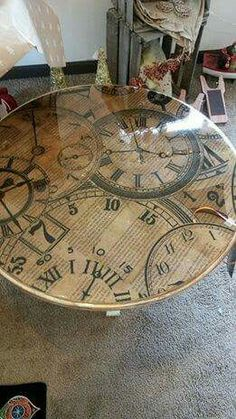 Exceptional re-do of an old table.  I must give this a go.