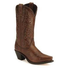 Love this exact look - but real leather is a must! Laredo High Heel Cowgirl Boots