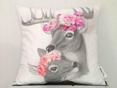 ThreadLab Cushion (Floral Deer)