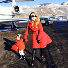 "Pin for Later: 63 Times Mariah Carey Proved She's the Most Glamorous Mom ""Maybe just one photo in front of the jet?"""