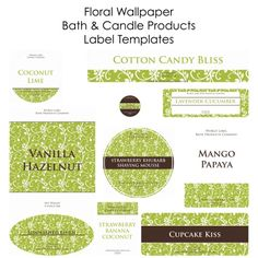Free Soap and Candle making labels in printable templates.