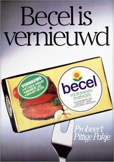 'Becel vernieuwd' -  1984 #advertising #butter