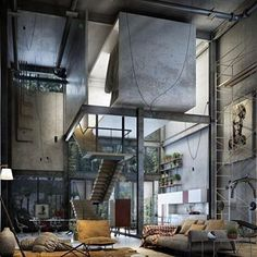 Yes or No? Industrial Loft visualized by Rogelio Isai, #Mexico