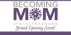 We are so excited for our Grand Opening next Monday, August 22nd! We will be GIVING AWAY OVER $600 in Becoming Mom SPA SERVICES AND ULTRASOUND PACKAGES at the event! Check in at the registration table and you'll be automatically entered to win a variety of exciting prizes which will be announced throughout the evening. You do not need to be present to win. Winners who are not present will be contacted after the event to pick up their winnings at Becoming Mom during business hours. Be sure to…