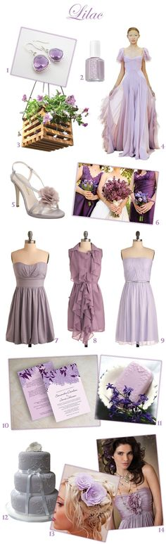 Lilac inspired wedding items! :)