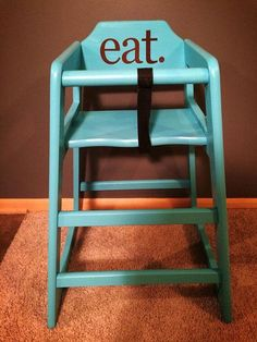 Refurbished Resturant Style High Chair By FurnitureBliss On Etsy